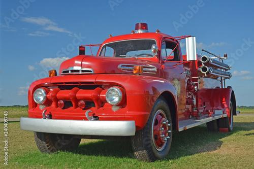 Obraz na plátne Old Fire Truck