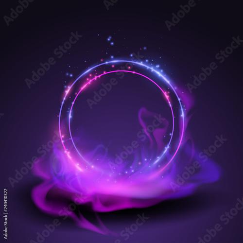 Photo Magic rings in smoke