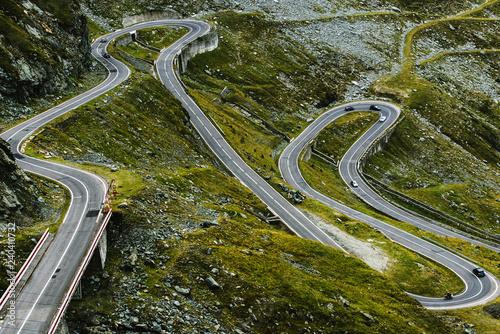 Fotografia  Transfagarasan Highway in Romania Carpathians