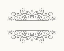 Hand Drawn Decorative Border In Retro Style