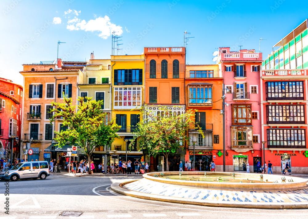 Streets and architecture of Palma de Mallorca, Balearic islands, Spain