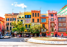 Streets And Architecture Of Palma De Mallorca, Balearic Islands, Spain