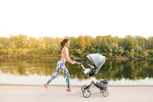 Active Mother Jogging. Jogging...