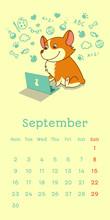 2019 September Calendar With W...