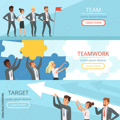 Business team banners Canvas-taulu