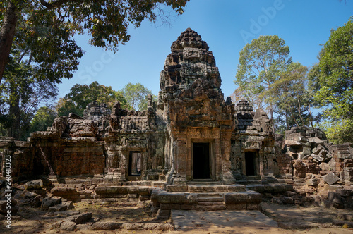 Foto  Ruin of a temple of Angkor Wat, Cambodia