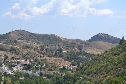 Spoed Foto op Canvas Khaki Alhambra Palace in Granada
