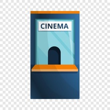 Cinema Ticket Kiosk Icon. Cartoon Of Cinema Ticket Kiosk Vector Icon For Web Design For Web Design