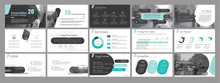 Presentation Template. Green Black Elements For Slide Presentations On A White Background. Use Also As A Flyer, Brochure, Corporate Report, Marketing, Advertising, Annual Report, Banner. Vector