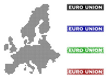 Dot Vector Abstract Euro Union...