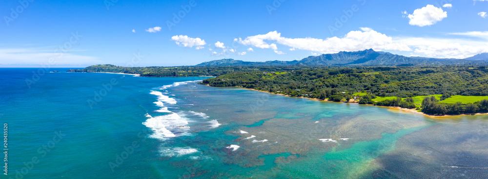 Fototapety, obrazy: Kauai Coast Tropical Island Hawaii View Panoramic