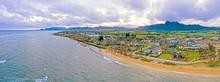 Kapaa Kauai Hawaii City Landscape Beach Valley Mountain Ridge