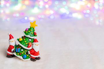 クリスマスイメージ サンタクロース ツリー