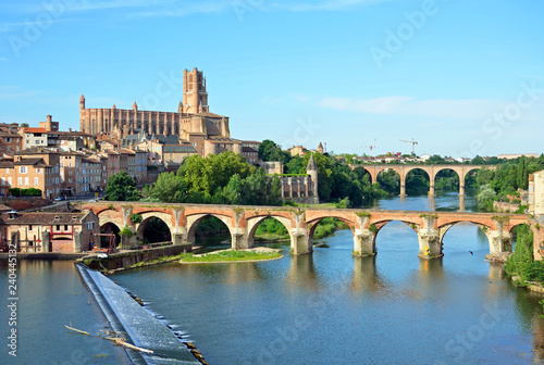Photo Cathedral of Saint Cecilia of Albi and Pont Vieux in France