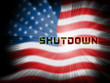 Usa Shutdown Flag Political Government Shut Down Means National Furlough