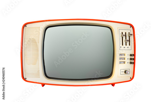 Retro television mock up isolated with a white background Fototapet