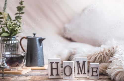 homely atmosphere in the interior Wallpaper Mural