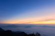 Beautiful Landscape of sunrise on Mountain at of Phu Chi Fa ,Thailand