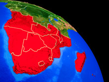 Southern Africa On Planet Eart...