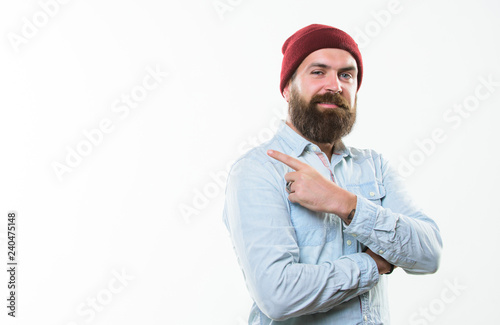 фотографія  Man bearded with mustache brutal masculine appearance