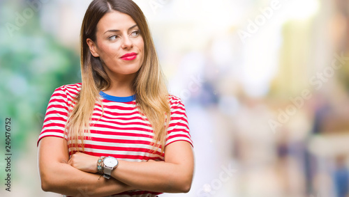 Young beautiful woman casual look over isolated background