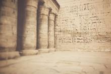Temple Of Medinet Habu In Luxor, Egypt. Selective Focus.