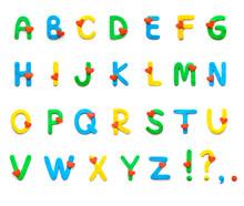 Plasticine Alphabet With Heart...