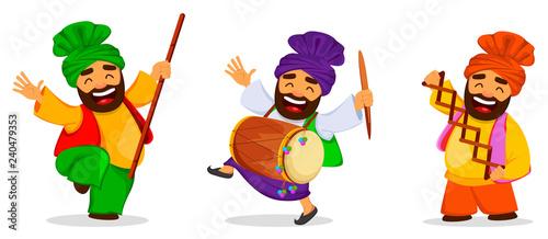 Vászonkép Popular winter Punjabi folk festival Lohri