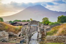 Landscape Of The Pompeii Ruins, Italy