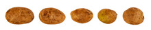 Untreated Potato Tubers White Background