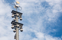 360 Degree Dome Cctv Pole On T...