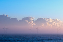 Clean Energy. Misty Morning Wi...