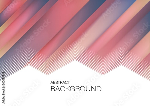 Horizontal Abstract stripe geometric background