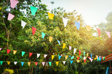 Colorful Party Flags Made Of P...