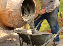 Production Of Concrete With A Small Cement Mixer