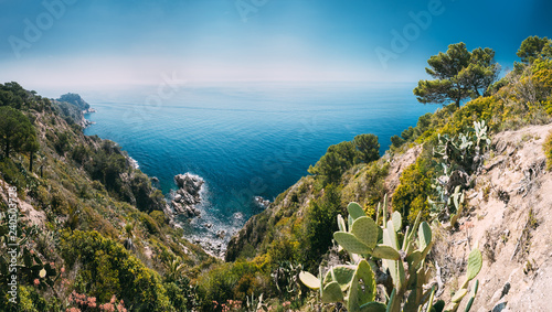 Tossa De Mar, Girona, Spain. Balearic Sea. Spring Spanish Nature