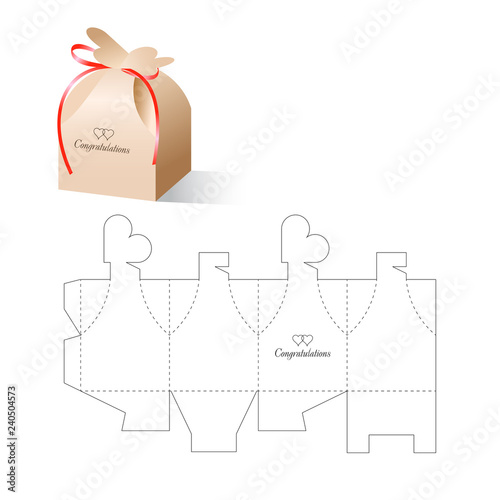 Foto Retail Box Heart with Blueprint Template
