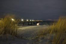 Seebrücke Nachtaufnahme