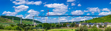 The High Moselle Bridge (Hochmoselbruecke), A Beam Bridge Near Zeltingen-Rachtig, Germany. It Is Currently Under Construction And Will Cross The Valley Of The Moselle.