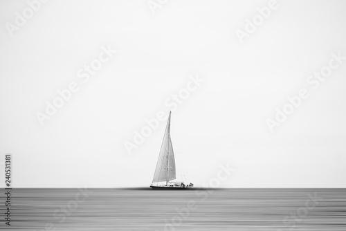 Barco en un lienzo