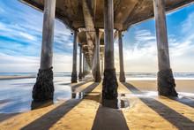 Underside Of Huntington Beach Pier