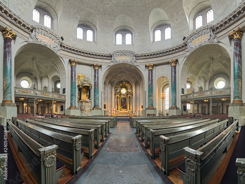 Fotografie, Obraz  Panoramic view of interior of Hedvig Eleonora Church in Stockholm, Sweden