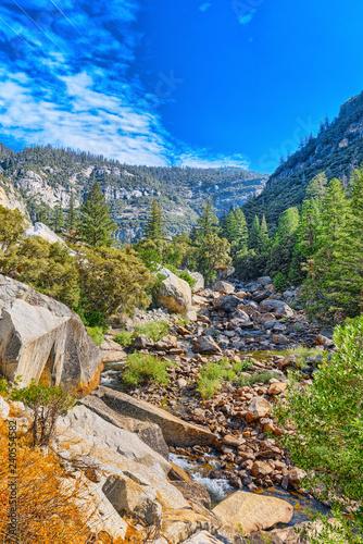 In de dag Verenigde Staten Magnificent national American natural park - Yosemite.