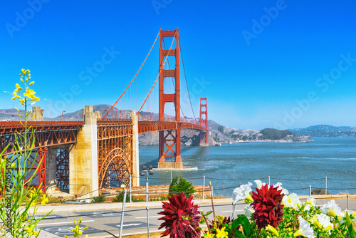 Foto op Plexiglas Verenigde Staten Panorama of the Gold Gate Bridge and the other side of the bay. San Francisco.