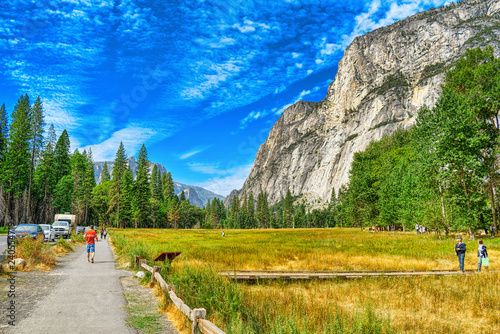 Fotobehang Centraal-Amerika Landen Yosemite Valley. Magnificent national American natural park - Yosemite.
