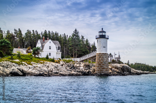 A well known Point Robinson Light in Acadia National Park, Maine Wallpaper Mural