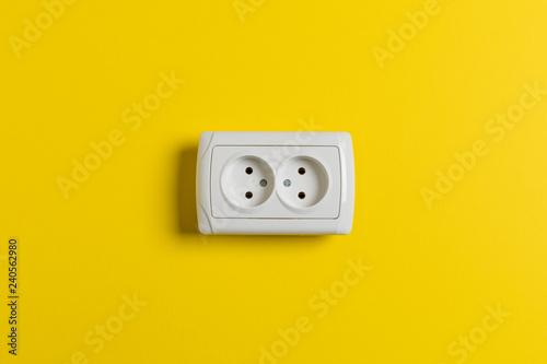 Photo  socket on yellow wall