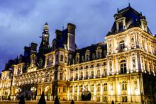 Hotel De Ville, Photo Image A Beautiful Panoramic View Of Paris Metropolitan City