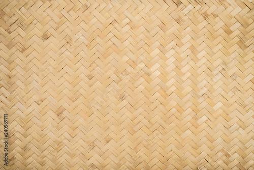 Canvastavla  Bamboo weave pattern background