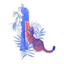 Tiger Stretching Hic Body, Yaw...